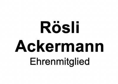Rösli Ackermann
