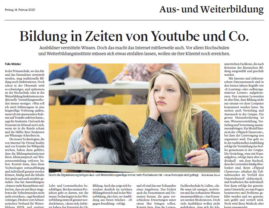 Bildung in Zeiten von Youtube und Co.